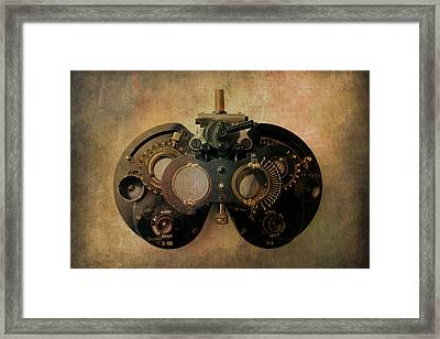 Optometrist Equipment Framed Print by Garry Gay
