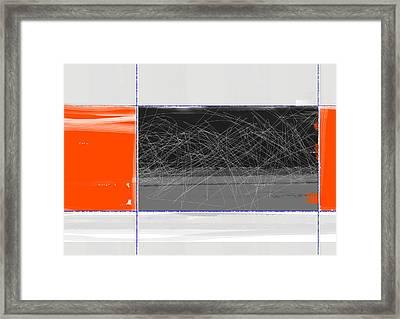 Orange And Black Framed Print by Naxart Studio