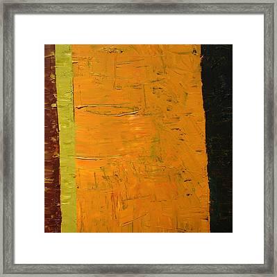 Orange And Brown Framed Print by Michelle Calkins