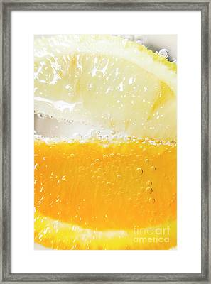 Orange And Lemon In Cocktail Glass Framed Print by Jorgo Photography - Wall Art Gallery
