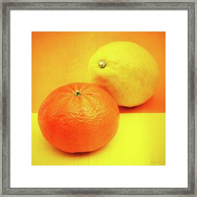 Orange And Lemon Framed Print by Wim Lanclus
