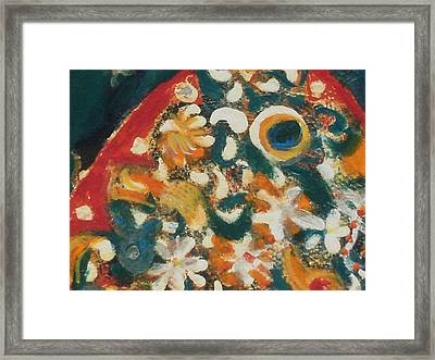 Orange And Multi Colored Fish Up Close Framed Print by Anne-Elizabeth Whiteway