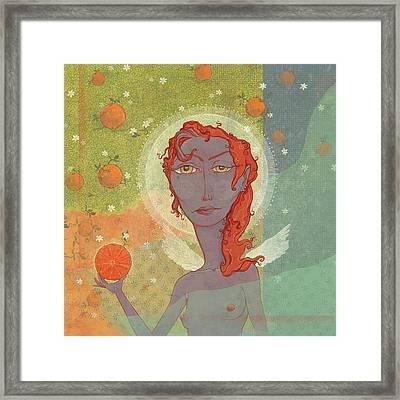 Orange Angel 4 Framed Print by Dennis Wunsch