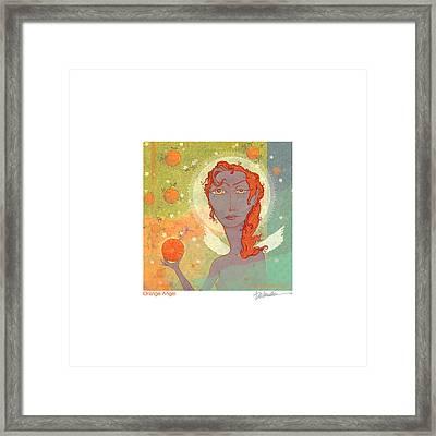 Orange Angel Poster Framed Print by Dennis Wunsch