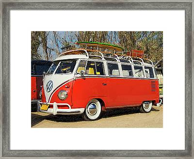 Orange Beauty At The Beach Framed Print by Ron Regalado