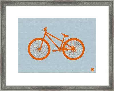 Orange Bicycle  Framed Print by Naxart Studio