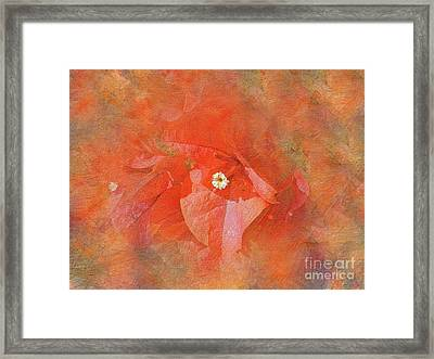 Orange Bougainvillea Art By Kaye Menner Framed Print by Kaye Menner