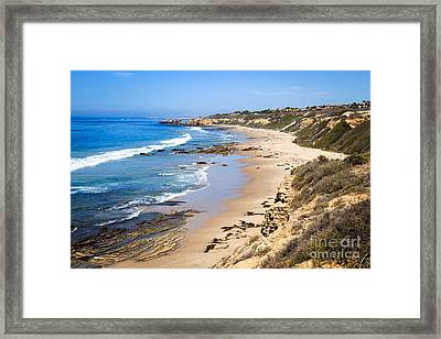 Orange County California Framed Print by Paul Velgos