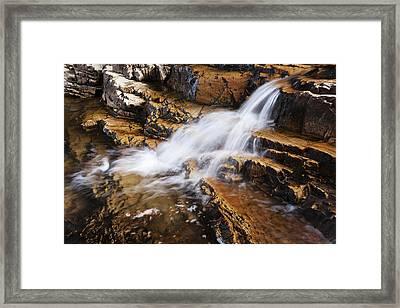 Orange Falls Framed Print by Chad Dutson