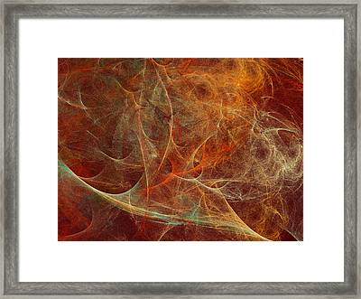 Abstract Texture In Autumn Tones Framed Print by Natalia Bykova