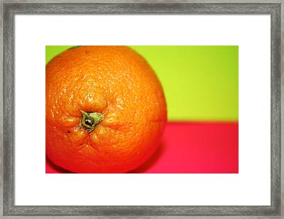 Orange Framed Print by Linda Sannuti