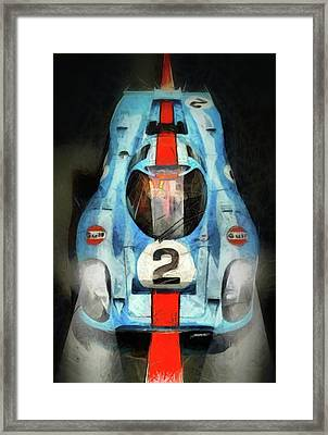 Orange Line Framed Print by Tano V-Dodici ArtAutomobile