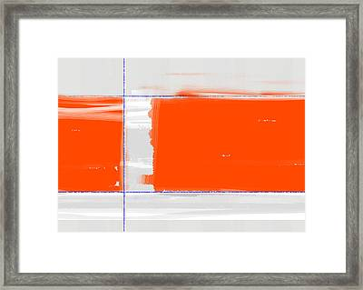Orange Rectangle Framed Print by Naxart Studio