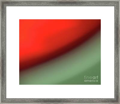 Orange Red Green Framed Print by CML Brown