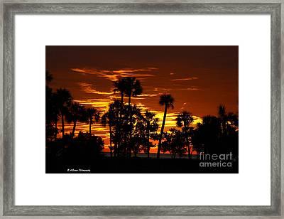 Orange Skies Framed Print by Barbara Bowen