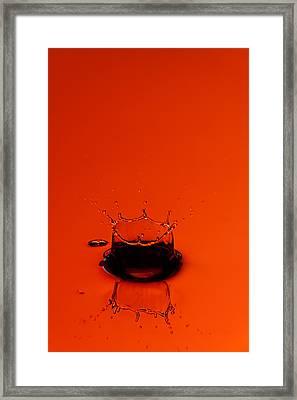 Orange Splash Framed Print by Steve Gadomski