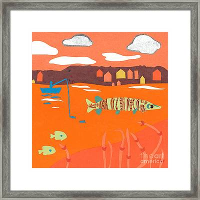 Orange Sunset Musky Framed Print by Laura Lynne