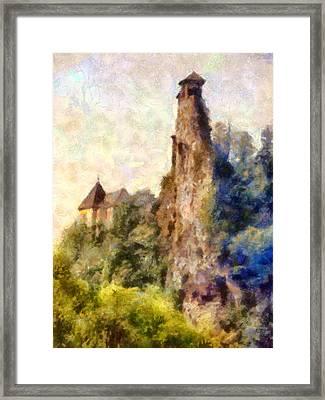 Orava Castle - Rear Side Framed Print by Peter Kupcik