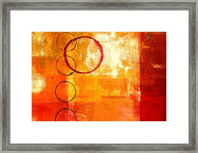 Orbit Abstract Framed Print by Nancy Merkle