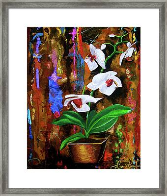 Orchid Hi Framed Print by Laura Pierre-Louis