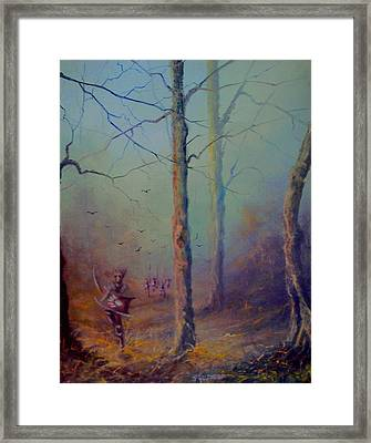 Orcs Of The White Hand Tolkien The Lord Of The Rings Inspired Art Framed Print by Joe  Gilronan