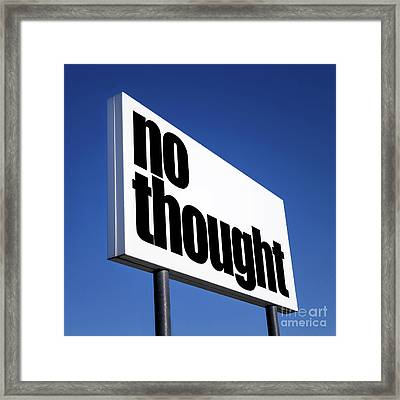 Order To No Thought Framed Print by Germano Poli