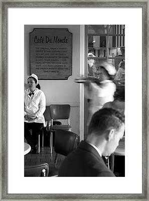 Order Up Framed Print by John Gusky