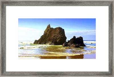 Oregon Coast 13 Framed Print by Marty Koch