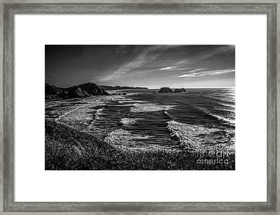 Oregon Coast At Sunset Framed Print by Jon Burch Photography