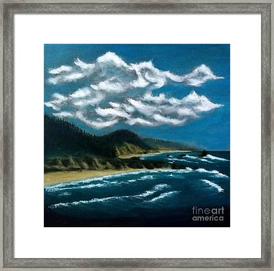 Oregon Coast Framed Print by John Lyes