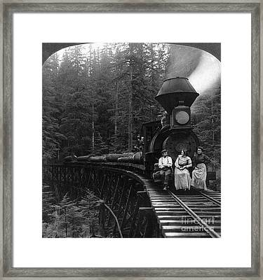 Oregon: Logging Train Framed Print by Granger