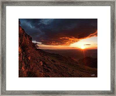 Oregon Mountains Sunrise Framed Print by Leland D Howard