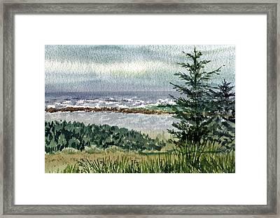 Ocean Shore Framed Print by Irina Sztukowski