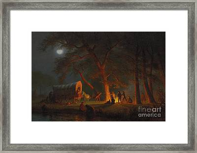 Oregon Trail Framed Print by Albert Bierstadt