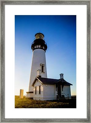 Oregon Yaquina Head Lighthouse Framed Print by Garry Gay