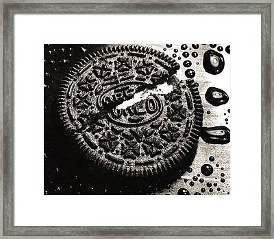 Oreo Cookie Framed Print by Nancy Mueller