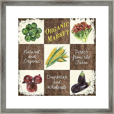 Organic Market Patch Framed Print by Debbie DeWitt