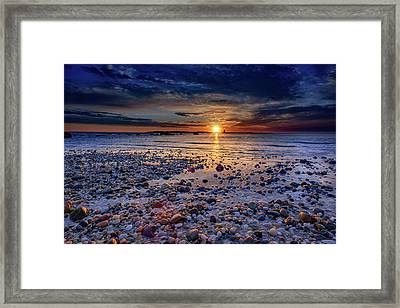 Orient Point Sunrise Framed Print by Rick Berk