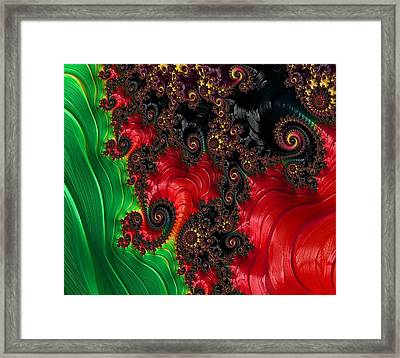 Oriental Abstract Framed Print by Marianna Mills