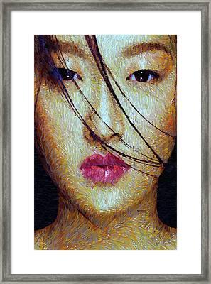 Oriental Expression 0701 Framed Print by Rafael Salazar