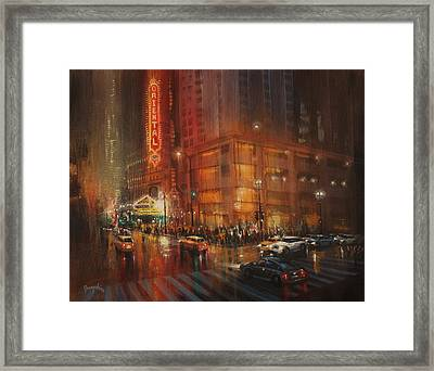 Oriental Theater Chicago Framed Print by Tom Shropshire