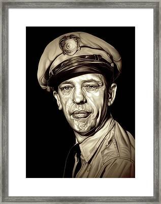 Original Barney Fife Framed Print by Fred Larucci