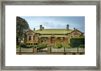 Original Campbell Town Hospital Tasmania Framed Print by Teresa A and Preston S Cole Photography
