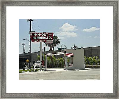 Original In-n-out Location Framed Print by Randy Dyer