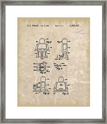 Original Lego Man Patent Framed Print by Dan Sproul