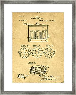 Original Patent For Canning Jars Framed Print by Edward Fielding