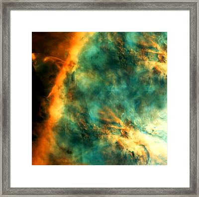 Orion Nebula Fire Sky Framed Print by The  Vault - Jennifer Rondinelli Reilly