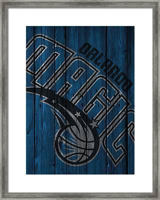Orlando Magic Wood Fence Framed Print by Joe Hamilton