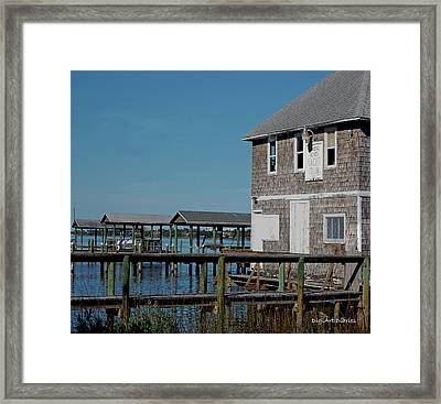 Ormond Yacht Club Est 1910 Framed Print by DigiArt Diaries by Vicky B Fuller