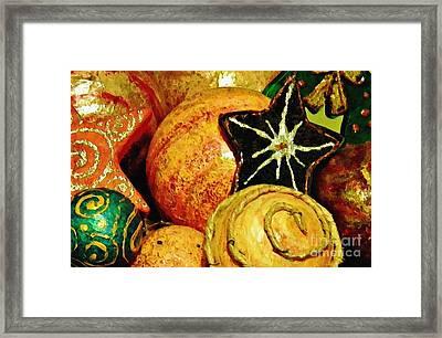 Ornaments 2 Framed Print by Sarah Loft